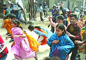 RMG workers demo Mirpur Feb 08